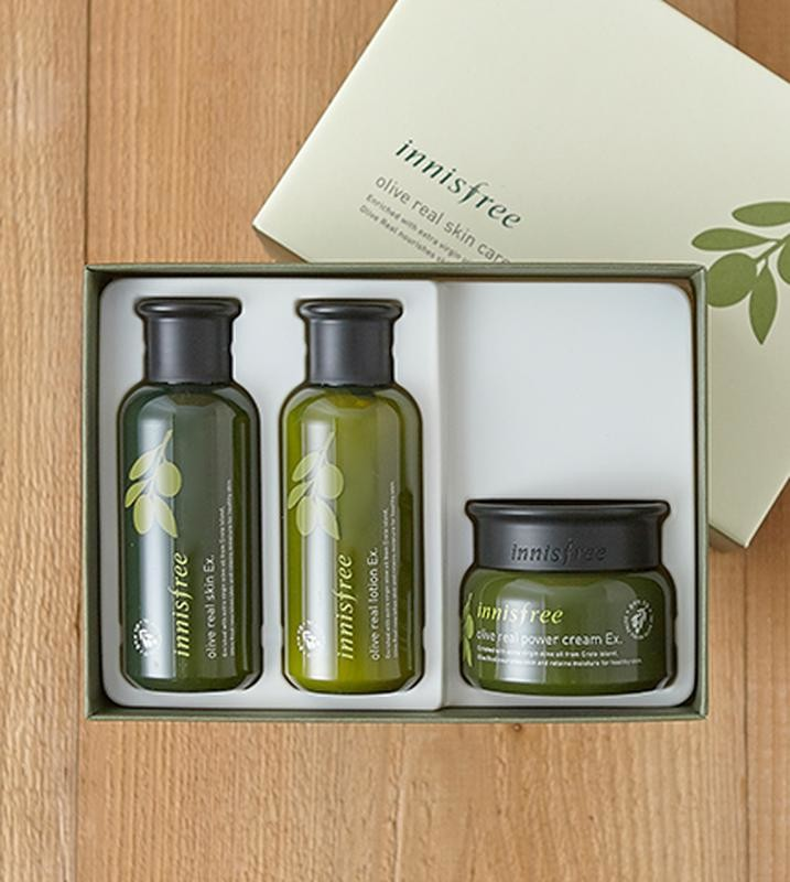 Набор innisfree olive real skin care ex. special set фото №1