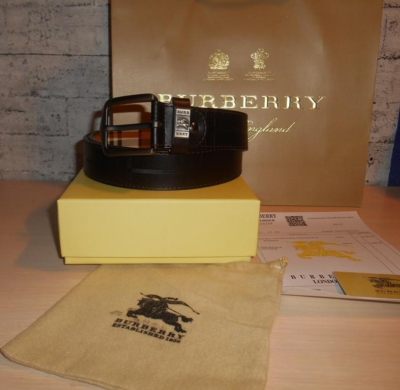 Мужской ремень пояс двухсторонний burberry , кожа, англия фото №1