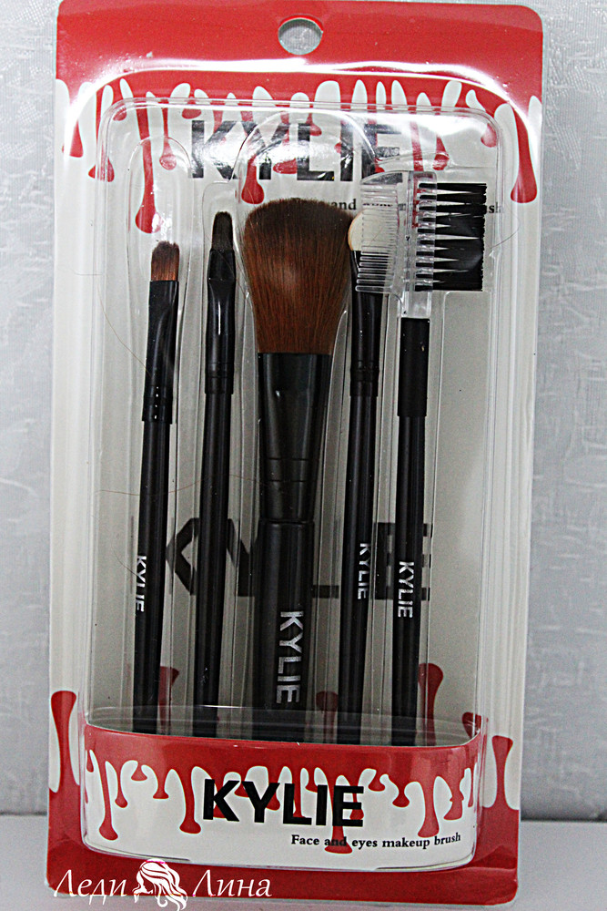 Набор из 5 кистей kylie face and eyes makeup brush фото №1