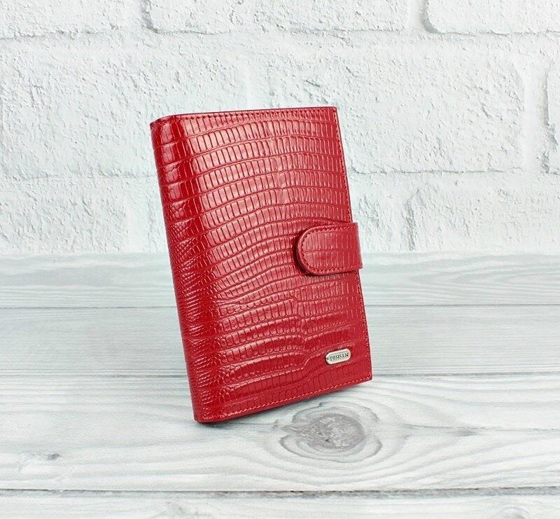 Обложка для прав, паспорта, карты застежка красная desisan 102-131, турция фото №1