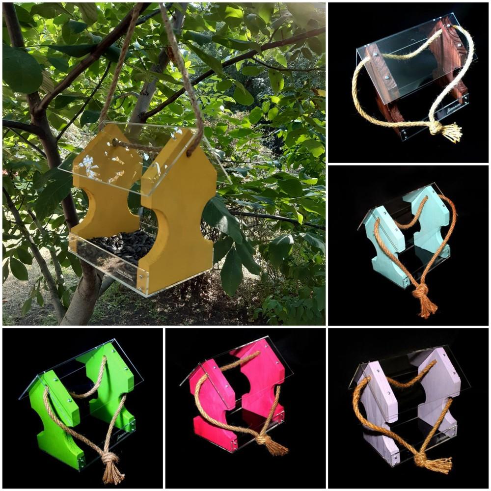 Садовые подвесные кормушки фламинго фото №1