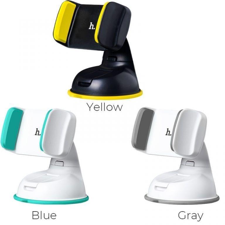 Автомобильный держатель для телефона с присоской hoco ca5, разные цвета фото №1