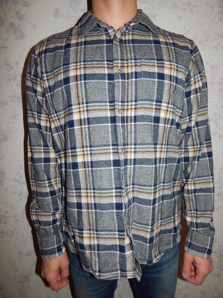 F&f рубашка мужская байковая стильная модная рl фото №1
