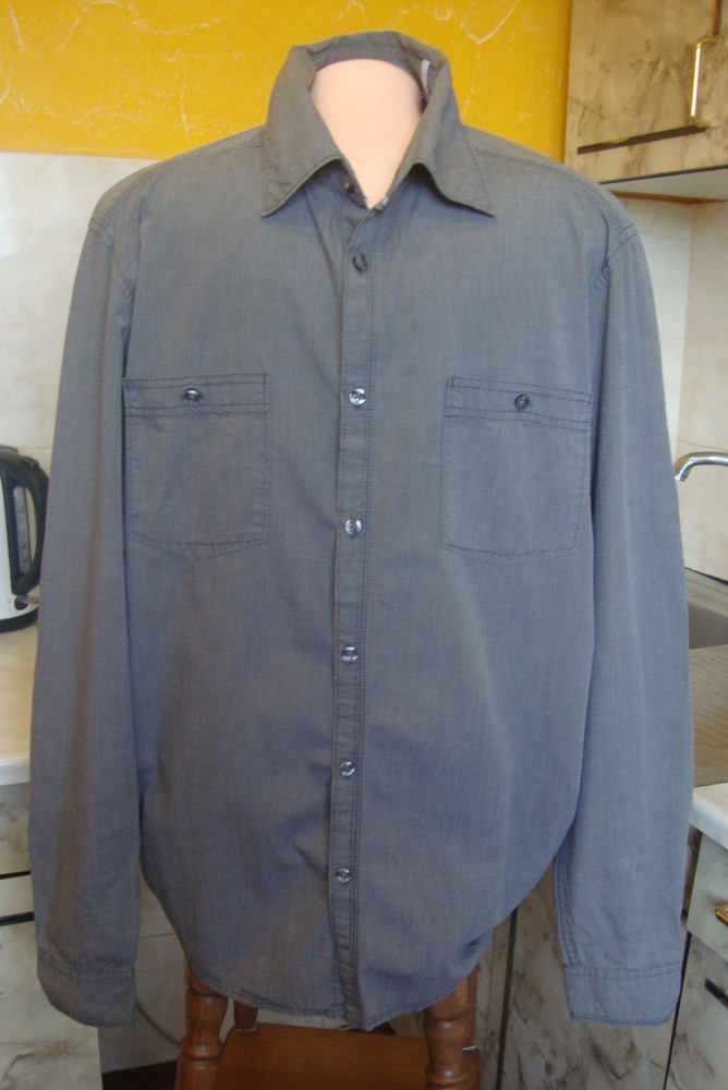 Рубашка серая esprit s/м 100%котон фото №1