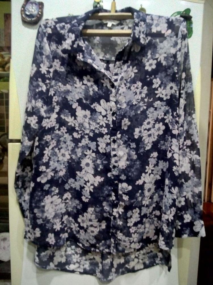 Нарядная шифоновая блуза фото №1