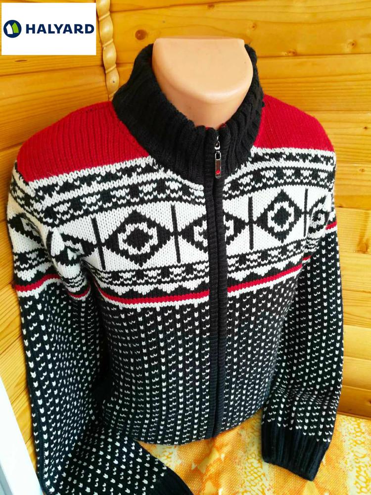 Практичный и уютный кардиган кофта куртка толстой вязки hallyard, канада. фото №1