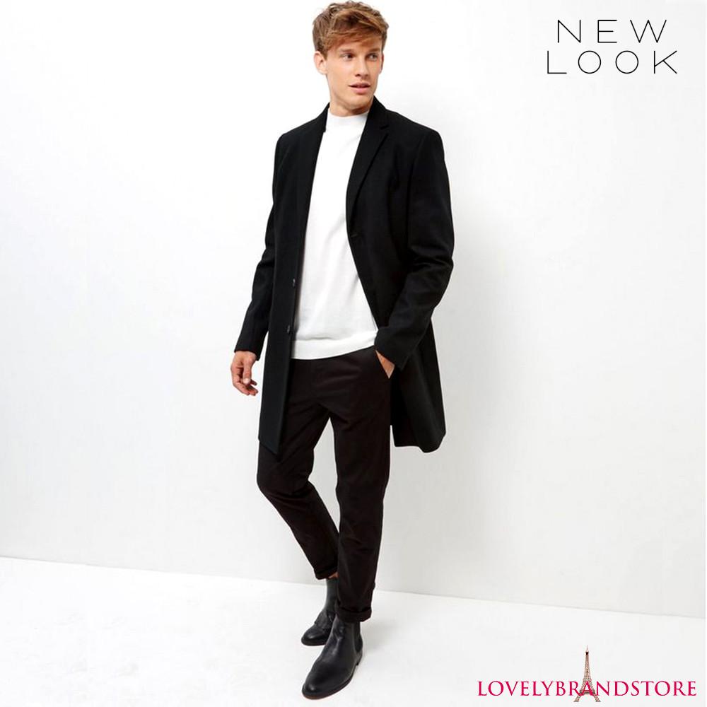 New look англия xl пальто мужское шерстяное однобортное 42% шерсть фото №1
