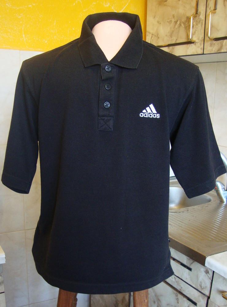Тенниска поло черная adidas s 36/38 60%котон, 40%полиэстер фото №1