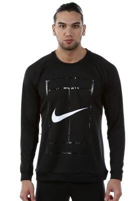 Фирменная кофта nike mens court crew long sleeve top - black р.50-52 l фото №1