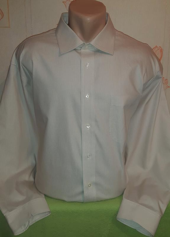 Шикарная рубашка в мелкую полоску jos.a.bank, made in sri lanka оригинал фото №1