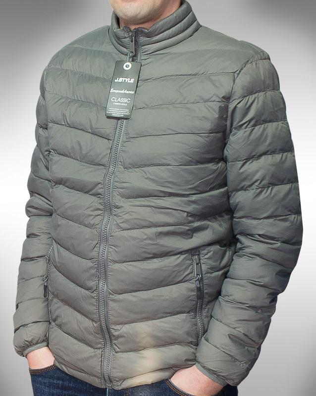 J. style, демисизонна чоловіча куртка без капюшона, акція фото №1