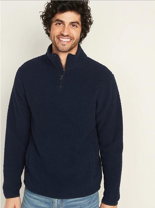 Удобный и комфортный пуловер из sherpa old navy размер s фото №1