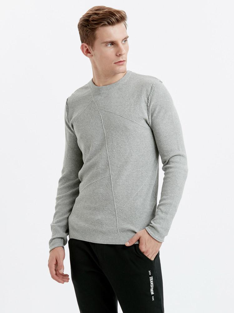 Серый мужской свитер lc waikiki / лс вайкики с фактурным рисунком фото №1