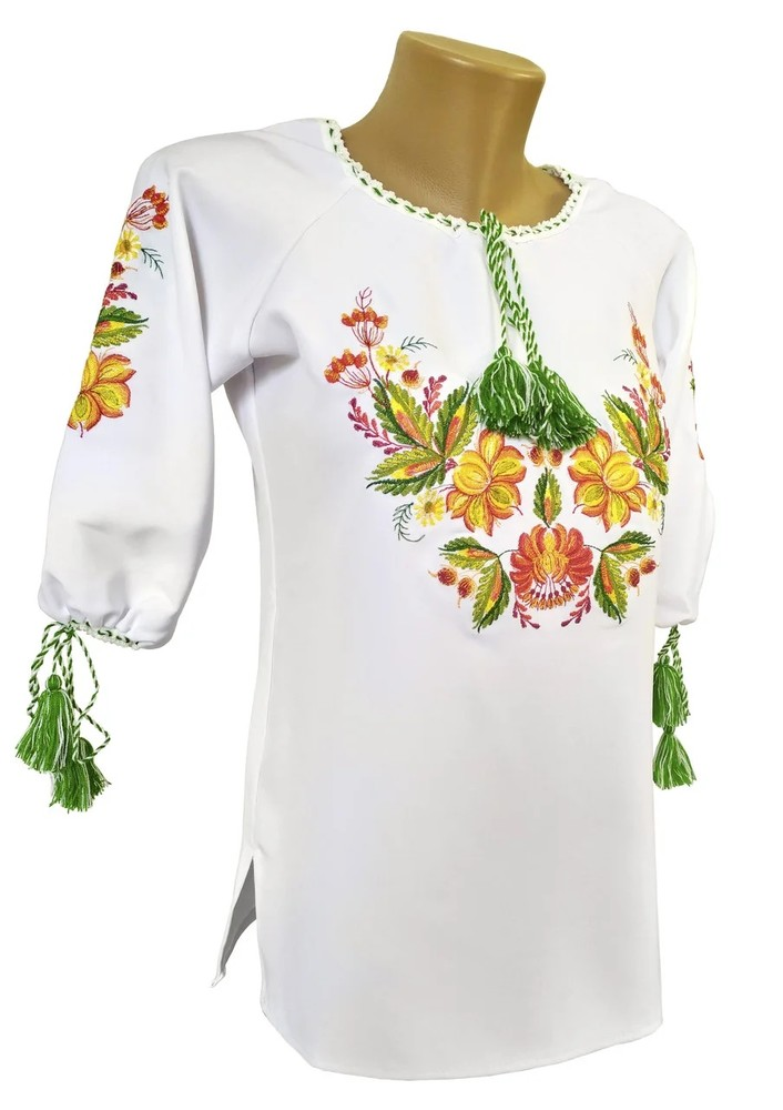 Вишиванка для дівчинки, вышитая блузка много расцветок ( 8-14 лет) фото №1