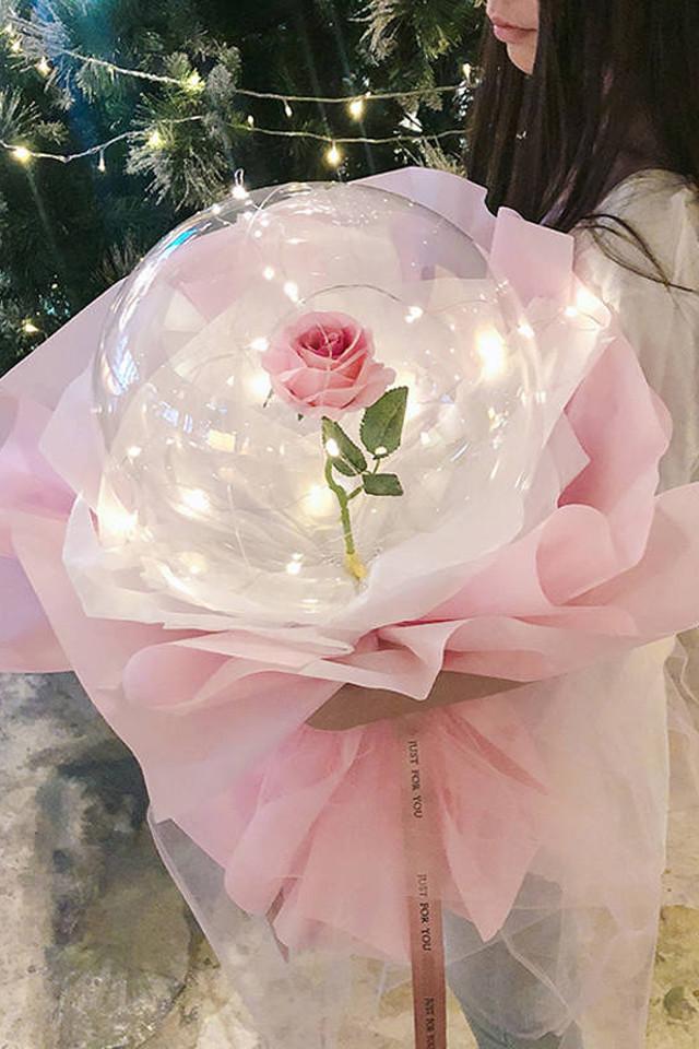 Роза в шаре, креативный подарок ко дню влюблённых или на 8 марта фото №1