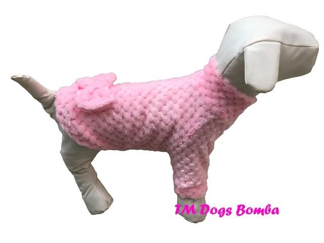 Свитер для собачек меховой розовый y-150 фото №1