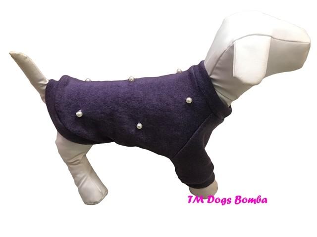 Свитер для собачек жемчуг ангора сирень y-152 фото №1