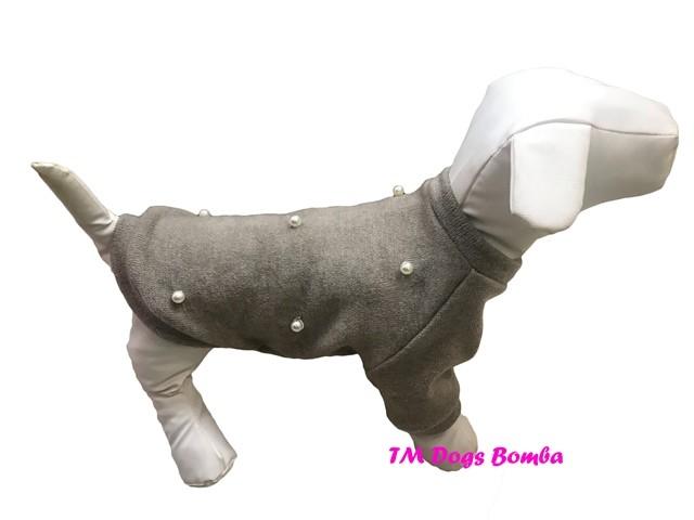 Свитер для собачек жемчуг ангора беж y-151 фото №1
