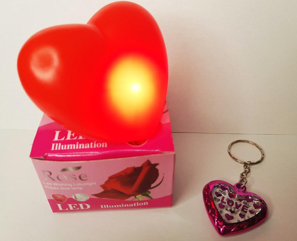 Светильник с led подсветкой в форме сердца для уютных и романтических вечеров плюс подарок фото №1