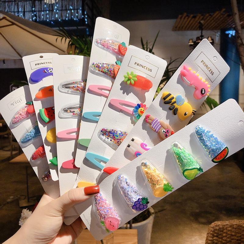 Набор детских заколок. разноцветный 5 шт. в ассортименте. фото №1