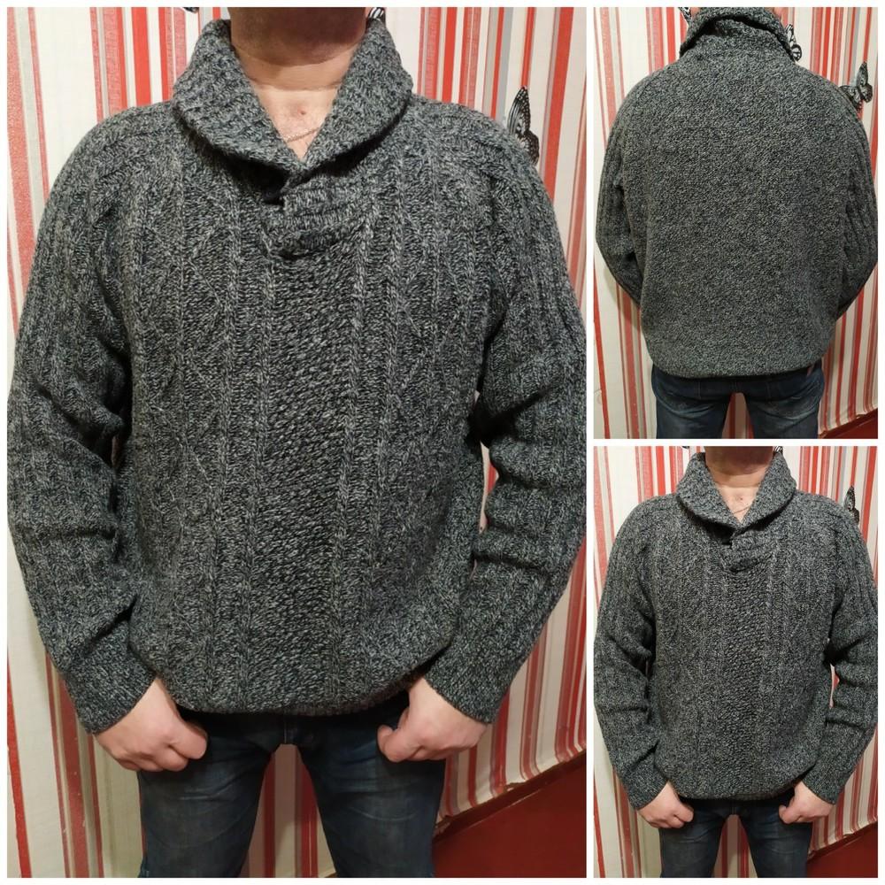 Очень тёплый свитер на солидного мужчину, р.54-56+ фото №1