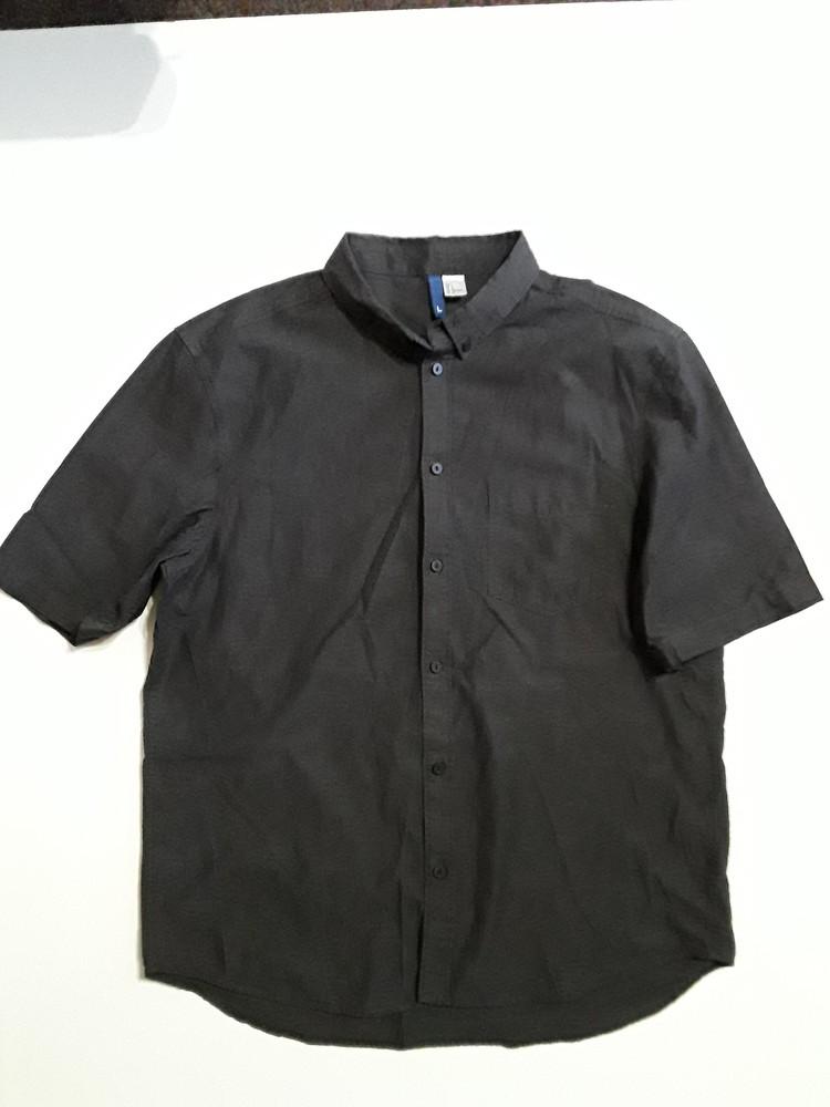 Фирменная легкая хлопковая рубашка l фото №1