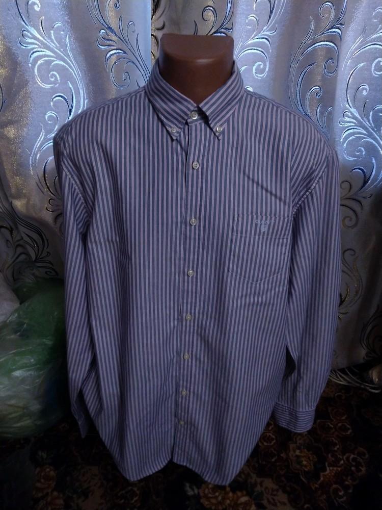 Стильная мужская рубашка в полоску gant фото №1