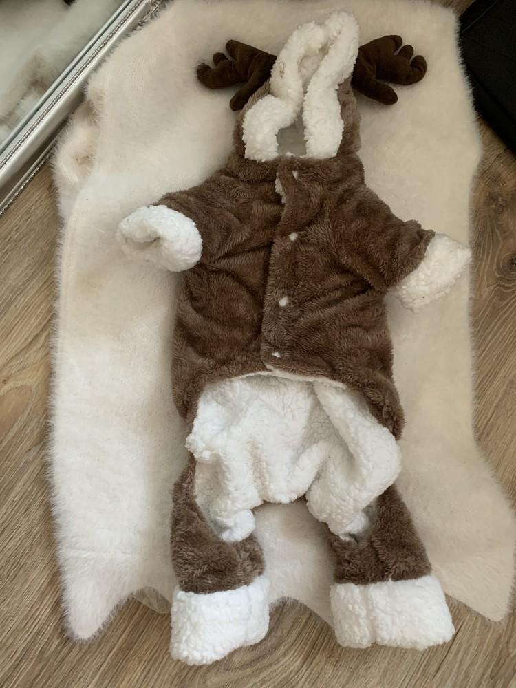 Теплый комбез для средней собаки на овчинке фото №1