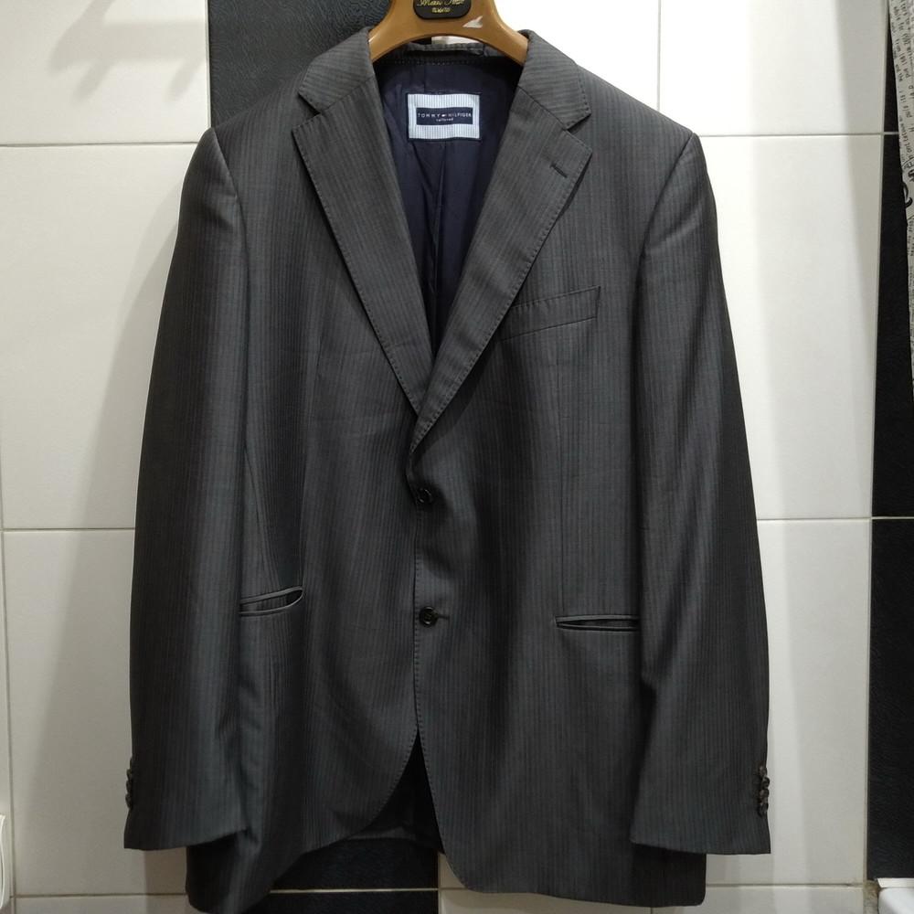 Блейзер (пиджак) tommy helfiger р-р. xl (серый) фото №1