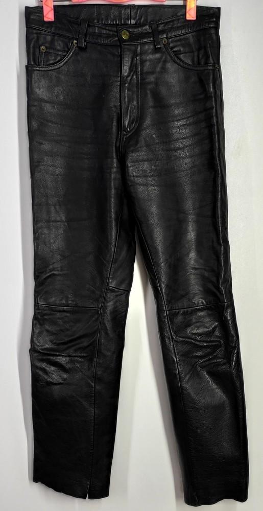 Шкіряні брюки розмір 30( у-134) фото №1