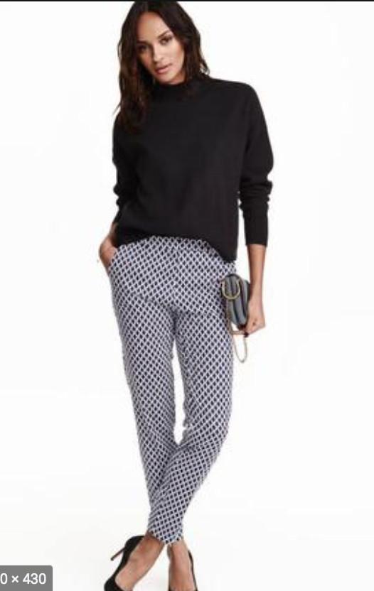 Модные зауженные брюки слаксы, длина 7/8 от h&m. 34 евро фото №1