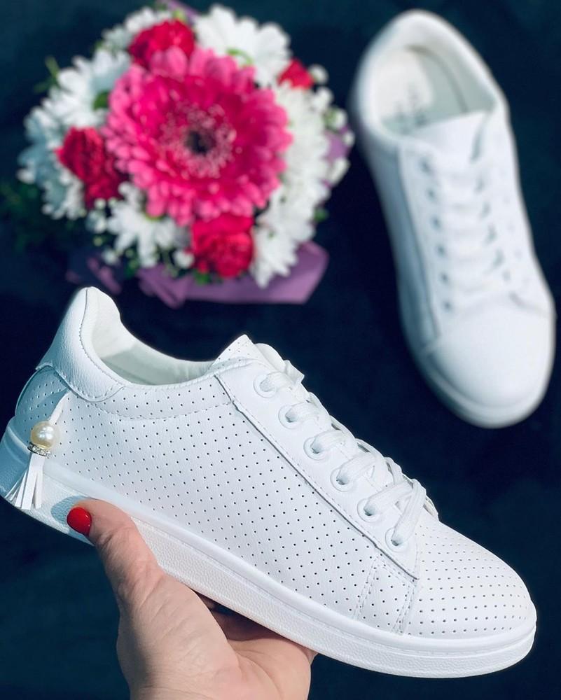 Красивые женские белые кеды кроссовки білі кеди кросівки жіночі фото №1