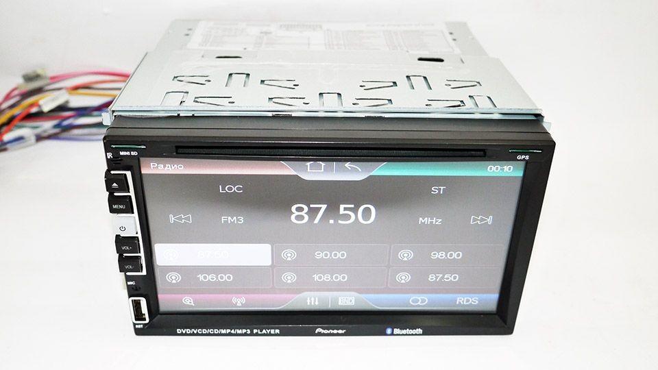 Автомагнитола 2din pioneer 803 gps dvd usb sd tv + 8gb(igo+navitel) фото №1