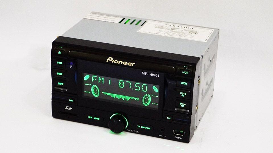 Автомагнитола 2din pioneer 9901 usb, sd, aux, пульт rgb подсветка фото №1