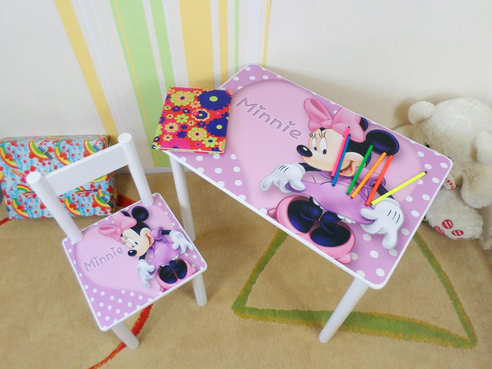 """Детский столик стульчик """"minnie"""" бейблейд,синий трактор от 2 до 7 лет фото №1"""