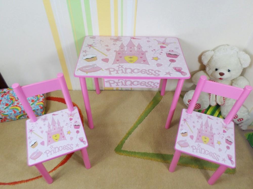 """Набор детской мебели """"принцесса - princess"""" столик-парта и стульчик (стол) от 2 до 7 лет фото №1"""