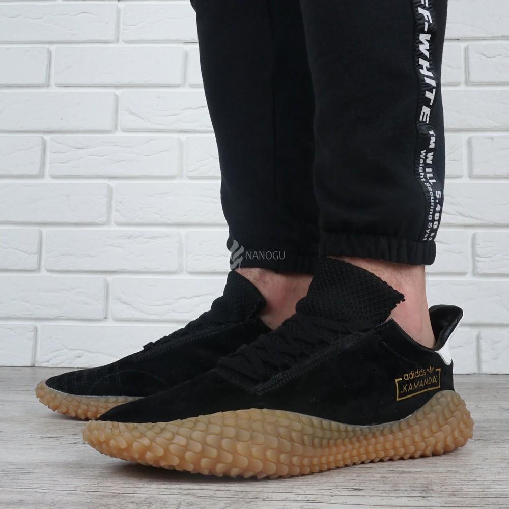 Кроссовки мужские замшевые adidas kamanda ortholite black черные фото №1