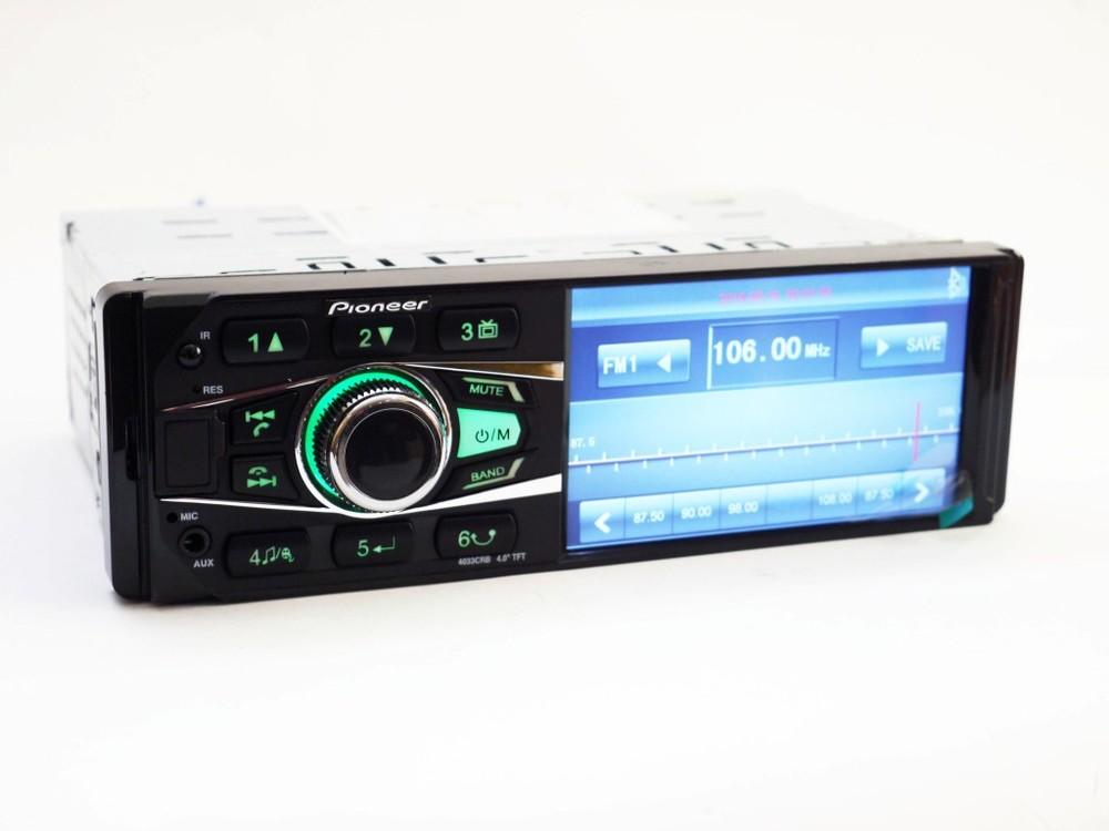 Автомагнитола pioneer 4033 iso - экран 4,1'', divx, mp3, usb, sd, bluetooth фото №1