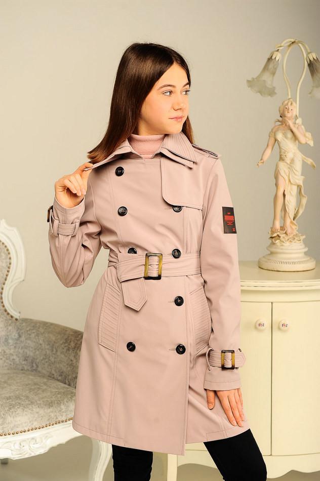 Куртка плащ для девочек подростков фото №1