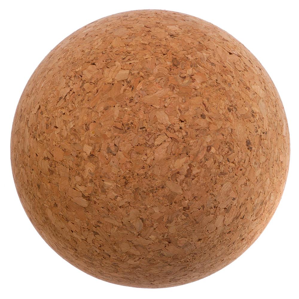 Массажер для спины пробковый ball rad roller 1566: диаметр 10см фото №1