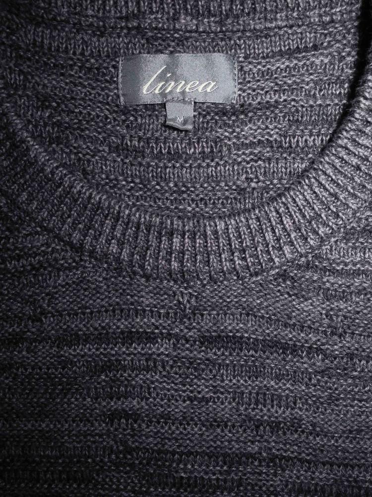 Мужская кофта длиннорукавка мягкая меланж шерсть linea m фото №1