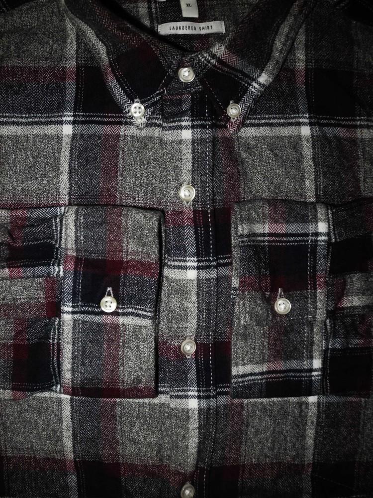 Мужская рубашка в клетку в крапп байка next xl xxl фото №1