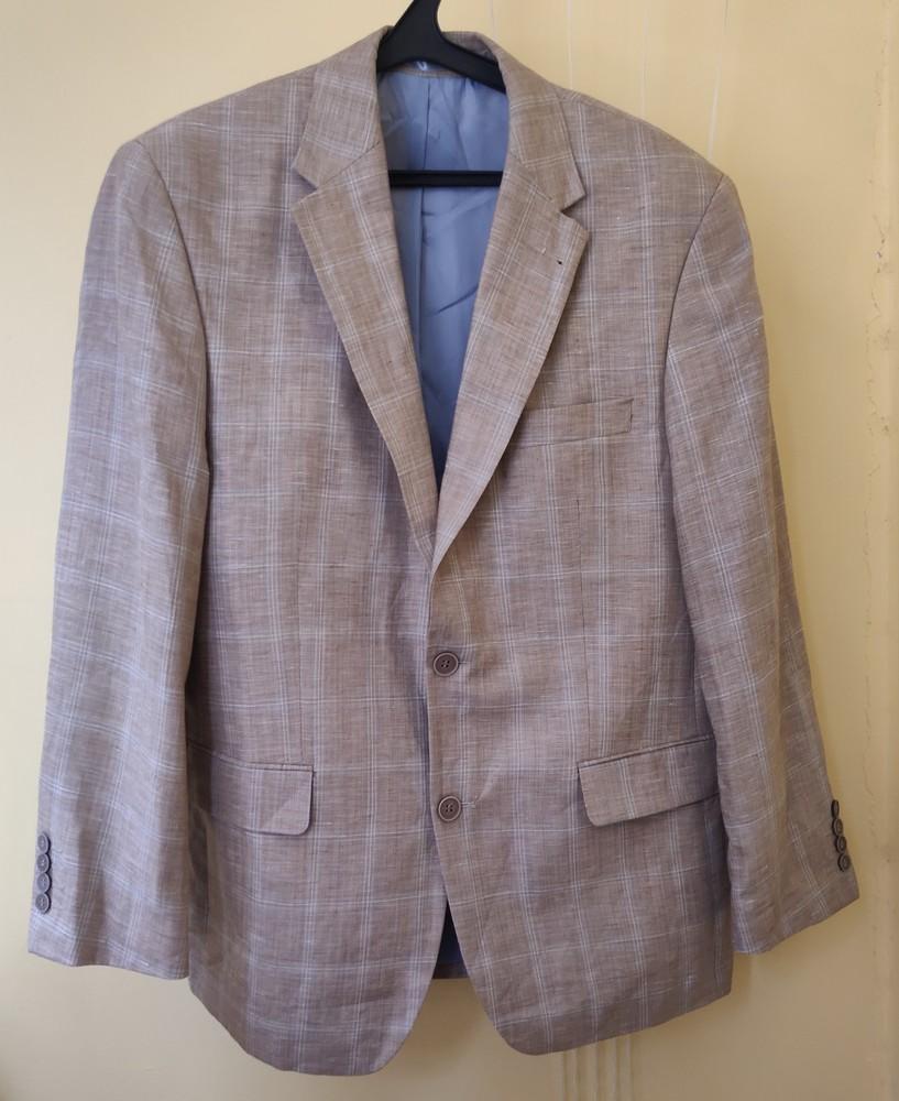 Легкий льняной мужской пиджак canda (made in germany) фото №1