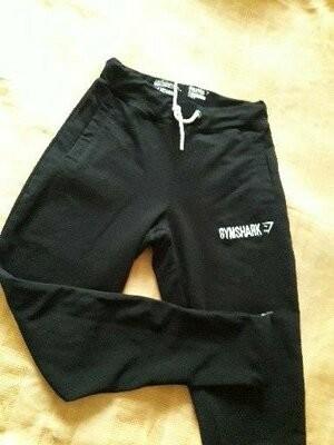 Спортивные штаны чёрные фирменные gymshark р.46 длина 88 фото №1