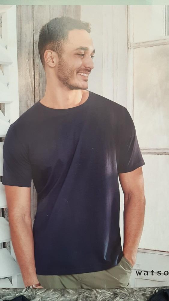 Стильная мужская хлопковая футболка от watsons, германия, размер м (48-50) фото №1