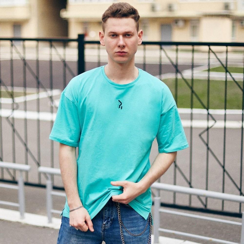 Футболка оверсайз базовая мужская, красная,желтая, бирюзовая фото №1