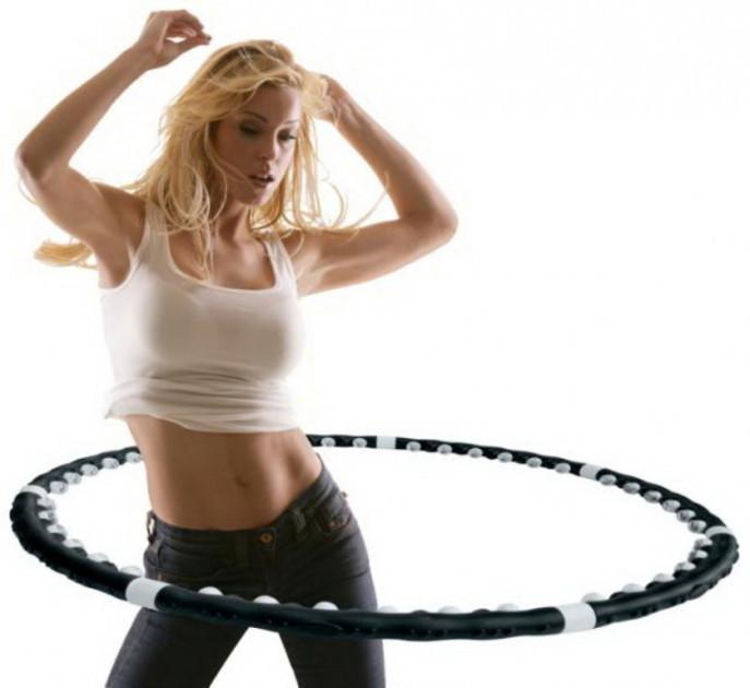 Спортивный массажный обруч massaging hula hoop exerciser для похудения фото №1