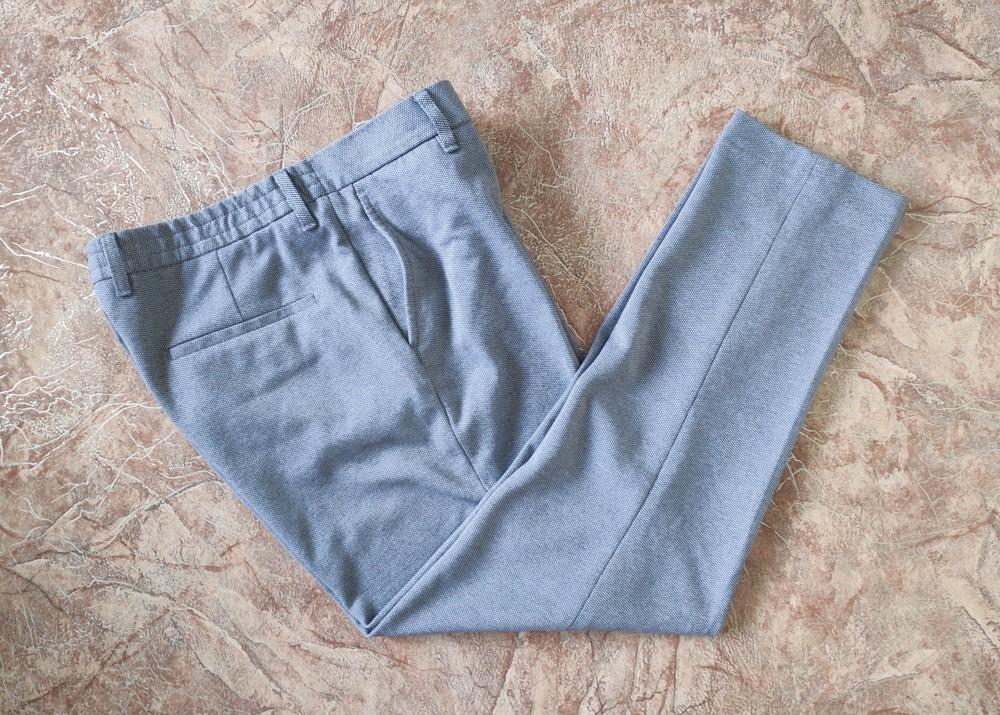 Укороченные мужские брюки зауженного кроя zara фото №1