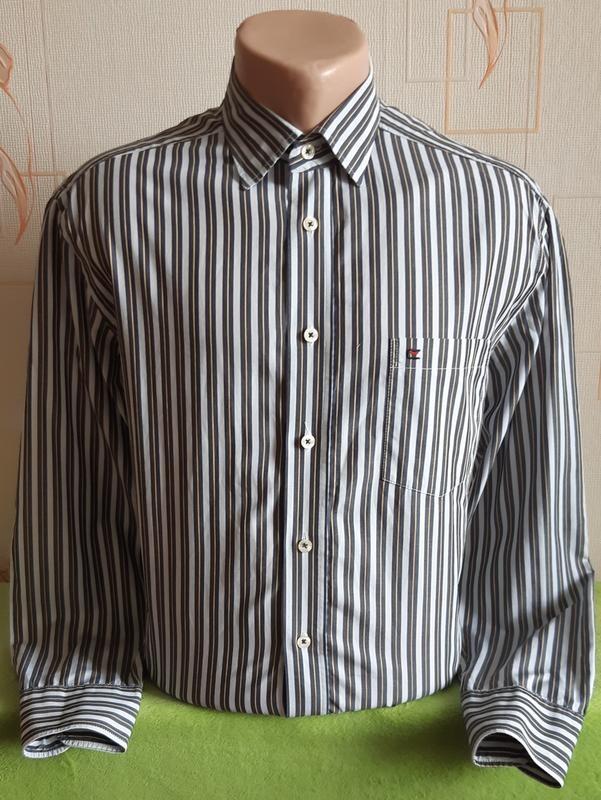 Стильная рубашка в полоску casa moda, made in macedonia фото №1