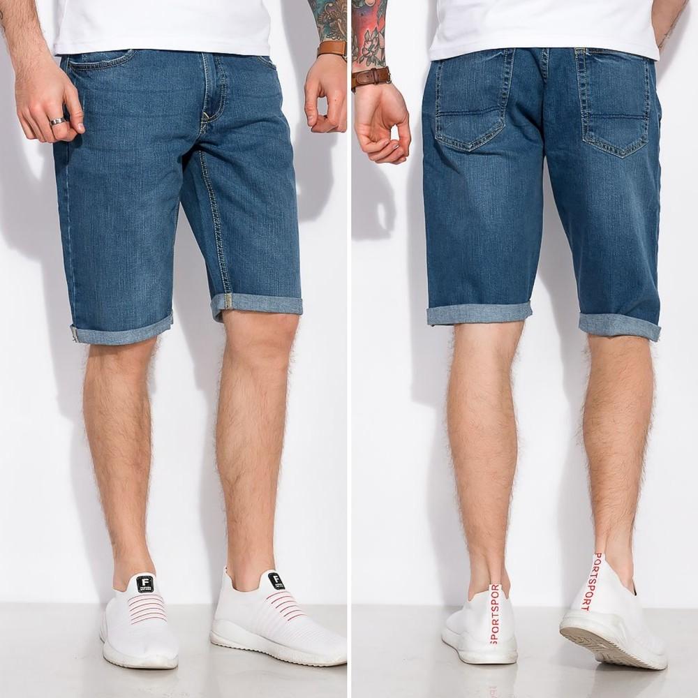 Шорты джинсовые с подкатами фото №1